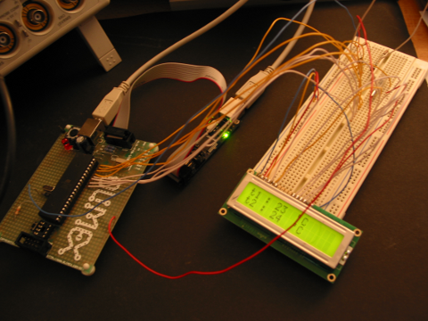 one-wire temperature sensors  and LCD